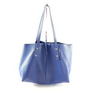 c2dbbe372c J. McLaughlin Bags - J.McLaughlin Dark Blue Annie Leather Tote Bag